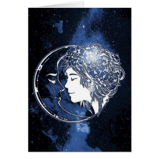 Daughter of the Moon Greeting Card