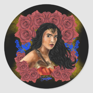 Daughter of Themyscira Classic Round Sticker