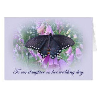 Daughter on Her Wedding Day Greeting Card