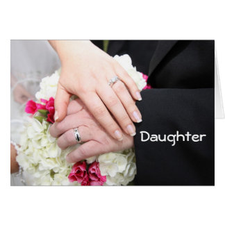 """**DAUGHTER** ON WEDDING DAY"""" WISHING YOU HAPPINESS GREETING CARD"""