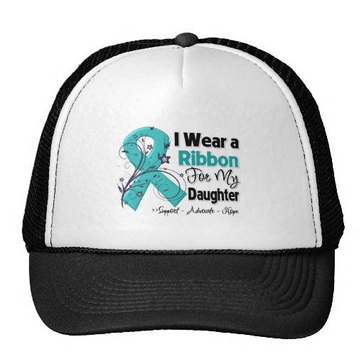 Daughter - Ovarian Cancer Ribbon Trucker Hat