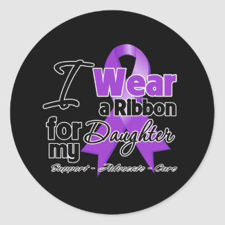 Daughter - Pancreatic Cancer Ribbon Classic Round Sticker