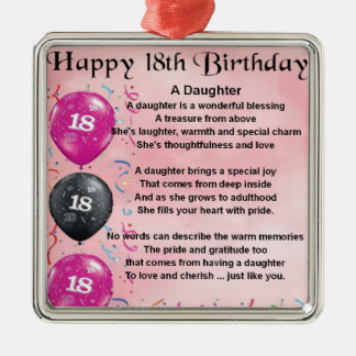Daughter Poem - 18th Birthday Christmas Ornament