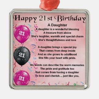 Daughter Poem 21st Birthday Christmas Ornament