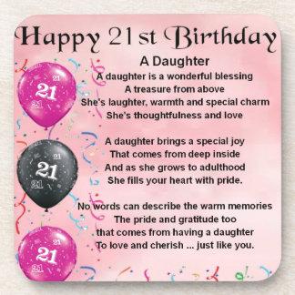 Daughter Poem 21st Birthday Coaster