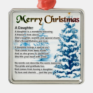Daughter Poem - Christmas Design Christmas Ornament
