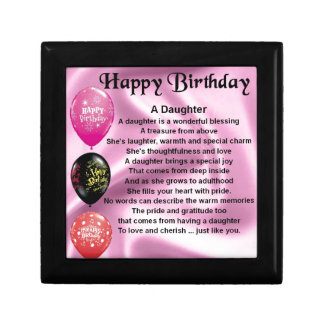 daughter poem  happy birthday gift box