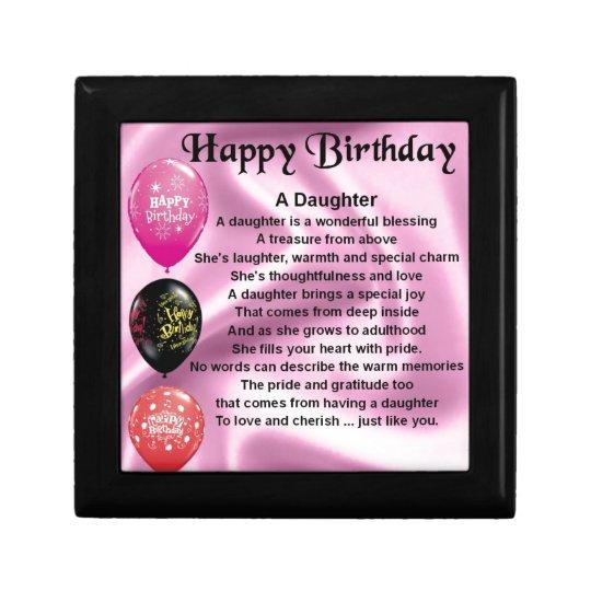 daughter poem happy birthday gift box