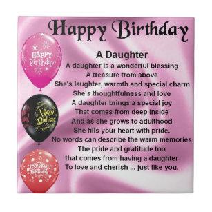 Daughter Poem Happy Birthday Tile