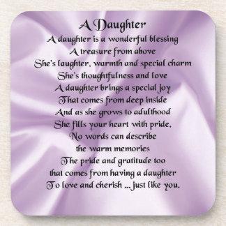 Daughter Poem - Lilac Silk Coaster