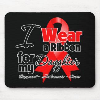 Daughter - Red Ribbon Awareness Mouse Pad