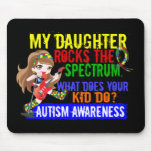 Daughter Rocks The Spectrum Autism Mouse Pads