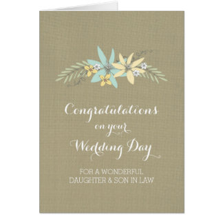 Daughter Son In Law Congratulations Spring Floral Greeting Card