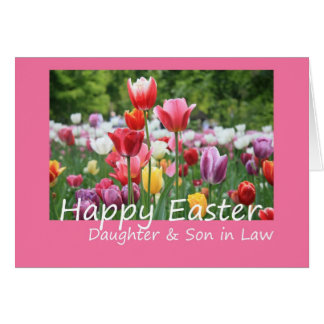 Daughter Son in Law Happy Easter Tulip card