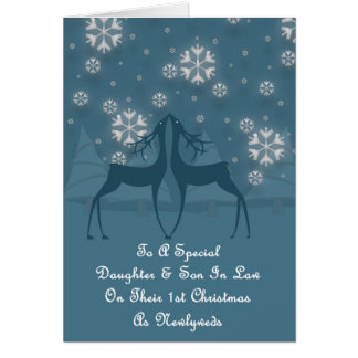 Daughter & Son In Law Reindeer Christmas Card