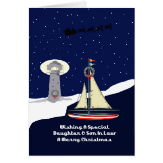 Daughter & Son In Law Sailboat Christmas Card