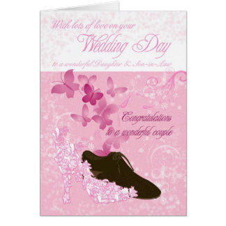 Daughter & Son-in-Law wedding day congratulations Card