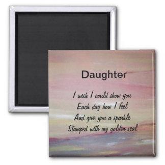Daughter Square Magnet