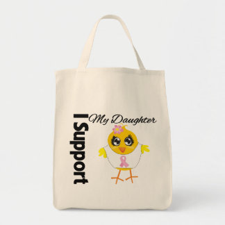 Daughter Support Breast Cancer Tote Bag