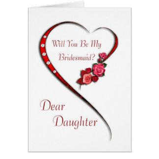 Daughter, Swirling heart Bridesmaid invite