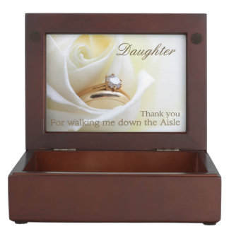 Daughter Thanks for Walking me down Aisle Keepsake Box