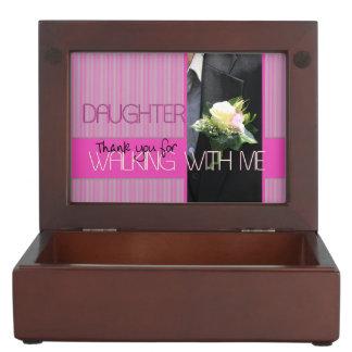 Daughter Thanks for Walking me down Aisle Keepsake Box