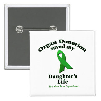 Daughter Transplant 15 Cm Square Badge