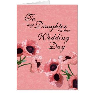 Daughter Wedding Day Greeting Card