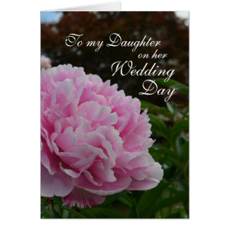 Daughter Wedding Day Peony Card