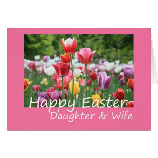 Daughter wife Happy Easter Tulip card