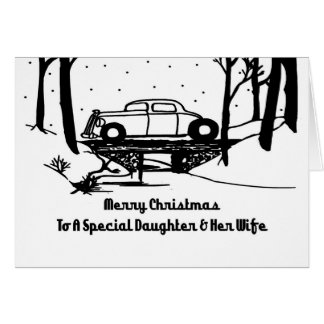 Daughter Wife Hot Rod Christmas Card