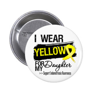 Daughter Yellow Ribbon Endometriosis 6 Cm Round Badge