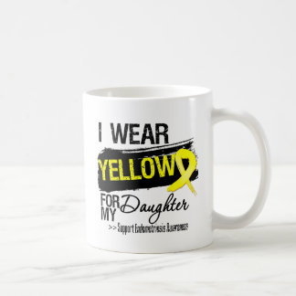 Daughter Yellow Ribbon Endometriosis Basic White Mug