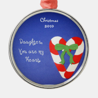 Daughter, You are my Heart. Christmas Ornament