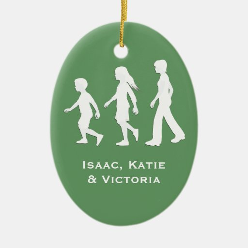 Daughters and Son: Silhouettes of Children Christmas Ornaments