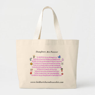 Daughters Are Forever Poem Jumbo Tote Bag