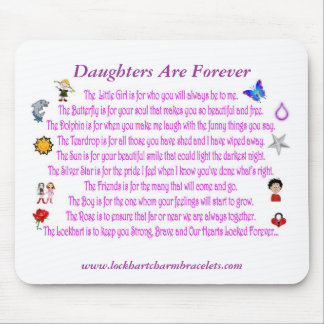 Daughters Are Forever Poem Mousepad