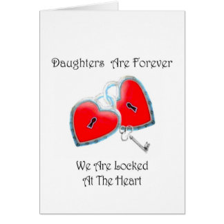 Daughters Are Forever Poem Stationery Note Card