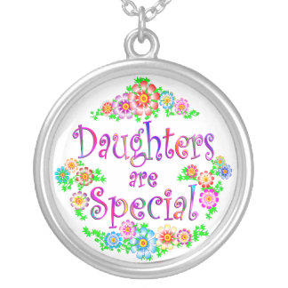 DAUGHTERS are Special Silver Plated Necklace