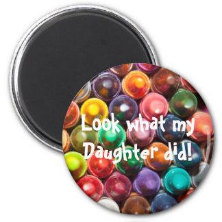 Daughter's Artwork 6 Cm Round Magnet
