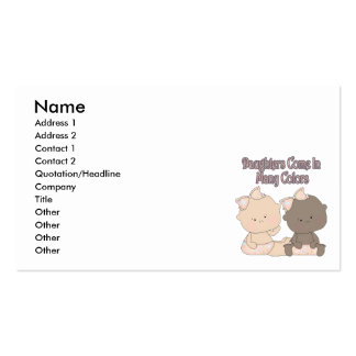 daughters come in many colors adoption design business card template
