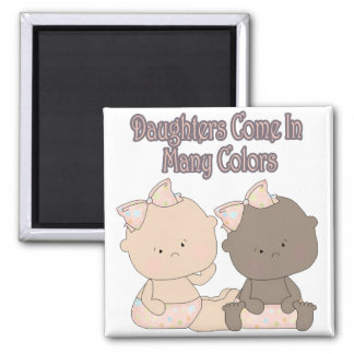 daughters come in many colors adoption design refrigerator magnet