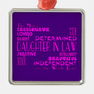 Daughters in Law Weddings & Birthdays : Qualities Christmas Ornament