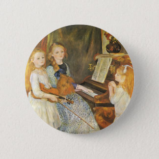 Daughters of Catulle Mendes by Pierre Renoir 6 Cm Round Badge