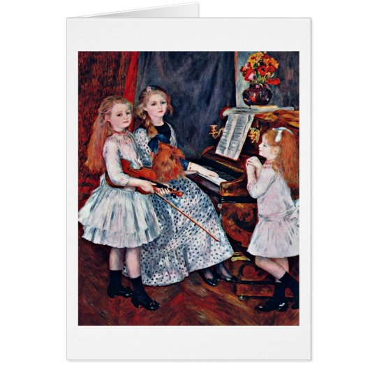 Daughters Of Catulle Mendes By Pierre Renoir Card