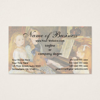 Daughters of Catulle Mendes; Pierre Auguste Renoir Business Card