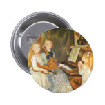 Daughters of Catulle Mendes; Renoir, Vintage Art 6 Cm Round Badge