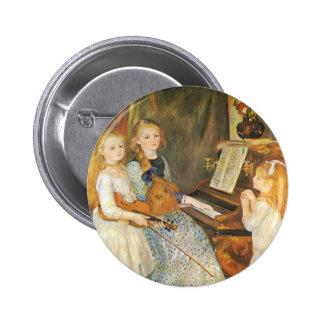 Daughters of Catulle Mendes; Renoir, Vintage Art Pins