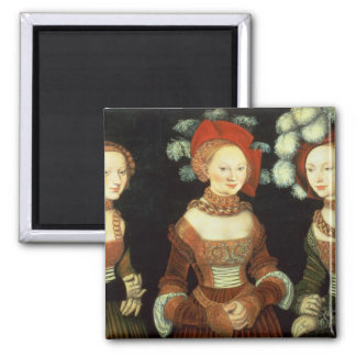 Daughters of Duke Heinrich of Frommen Square Magnet