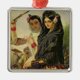 Daughters of the Alhambra Silver-Colored Square Decoration
